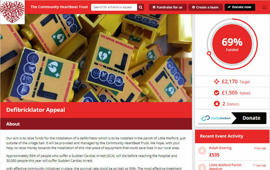 Defibrillator Appeal well on way to target