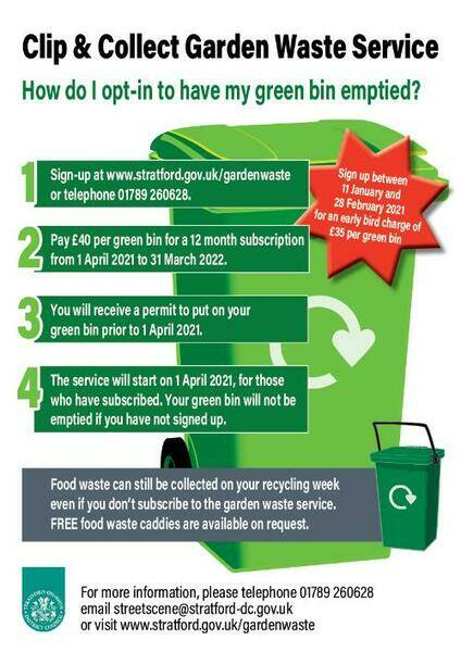 Green bin early bird discount