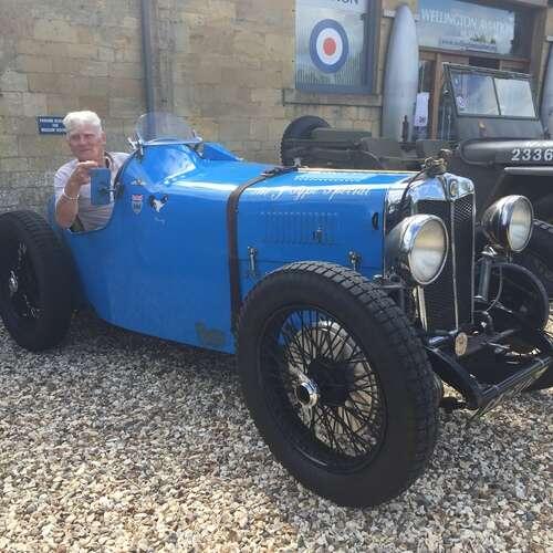 Vintage Blue MG 3